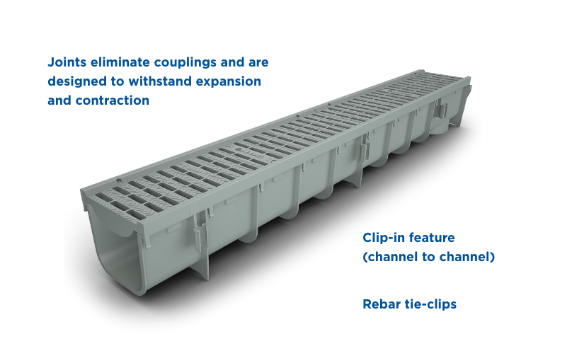 Nds Pro Series Plastic Channel Drain Residential